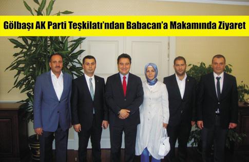Gölbaşı AK Parti Teşkilatı'ndan Babacan'a Ziyaret