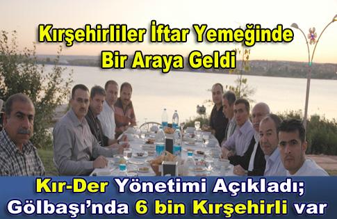 Kırşehirliler dernek yönetimi İftar'da bir araya geldi