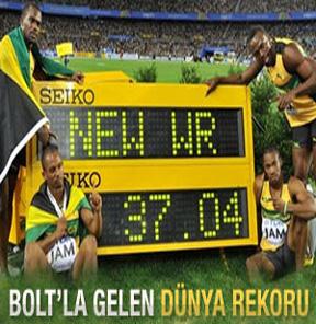 Jamaika dünya rekoruyla altın madalyaya uzandı