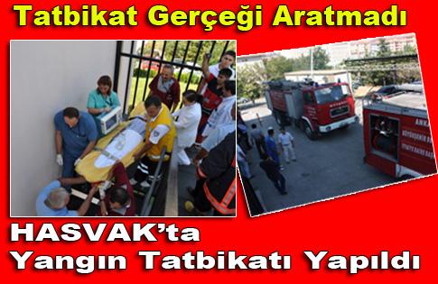 Hasvak Devlet Hastanesinde Yangın Tatbikatı