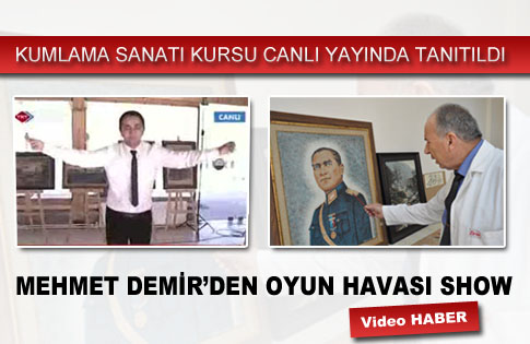 KUMLAMA SANATI KURSU TRT HABER CANLI YAYININDA TANITILDI