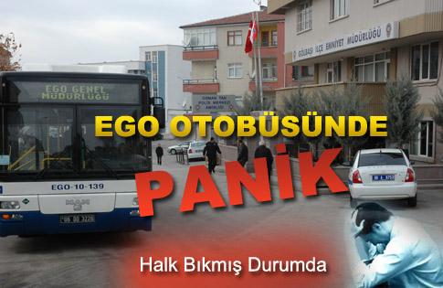EGO OTOBÜSÜNDE PANİK