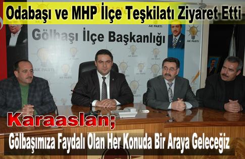 MHPden Ak Parti İlçe Teşkilatına Hayırlı olsun ziyareti