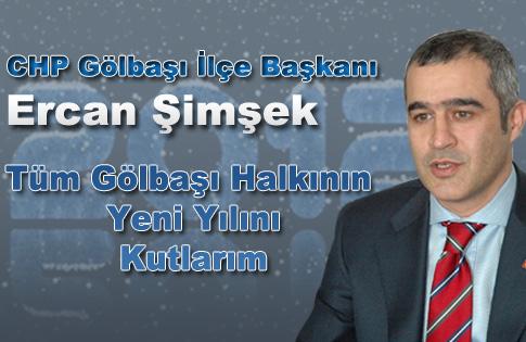 CHP Gölbaşı İlçe Başkanı Ercan Şimşekin Yeni Yıl Mesajı