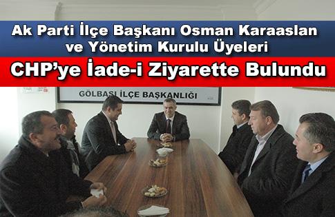 AK Partiden CHPye İade-i Ziyaret