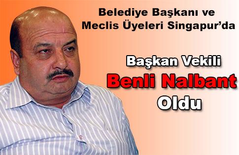 Başkan Vekili Benli Nalbant Oldu