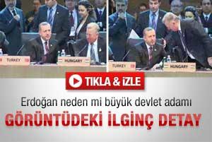 Erdoğanı görünce ayağa kalkan Cumhurbaşkanı