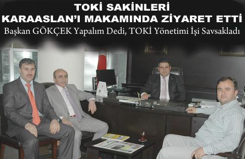 TOKİ Sakinleri'nden Ak Parti Gölbaşı İlçe Başkanı'na ziyaret