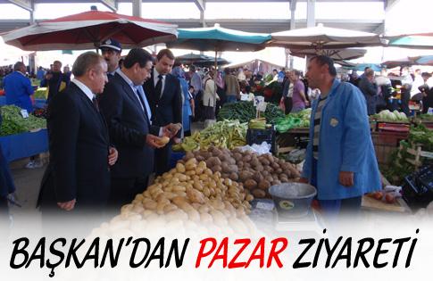 Başkan'dan pazar ziyareti