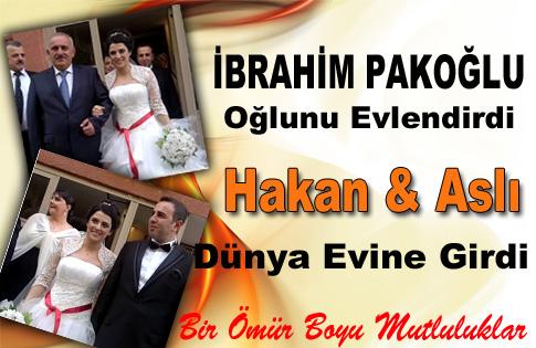 İbrahim Pakoğlu oğlunu evlendirdi