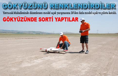 Model uçaklar gösteri yaptı