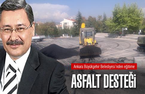 Eğitime asfalt desteği