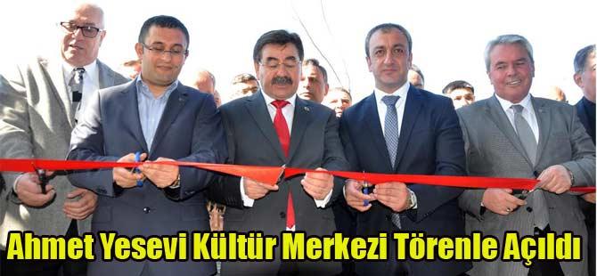 Ahmet Yesevi Kültür Merkezi Semazenler Eşliğinde Açıldı