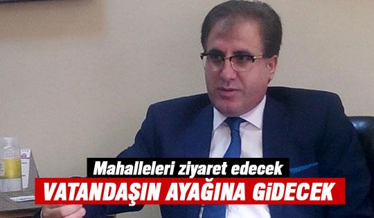 Mahallelere Kaymakam Şahin Aslan çıkarması..