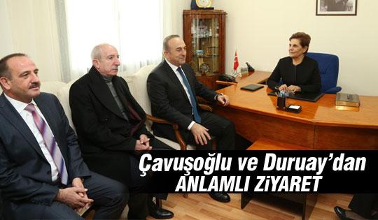 Bakan Çavuşoğlu ve Başkan Duruay Gölbaşı Ziçev'i ziyaret etti