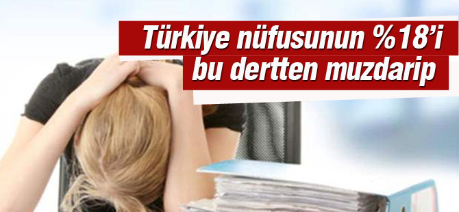 Türkiye'de 14,5 milyon kişide var !