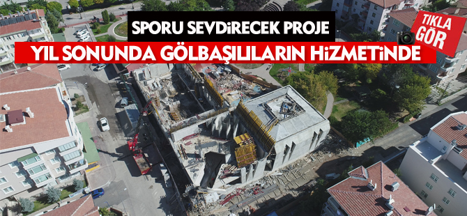 Mevla Spor Merkezi'nin inşaatı hızla ilerliyor