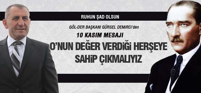 Demirci'den 10 Kasım mesajı