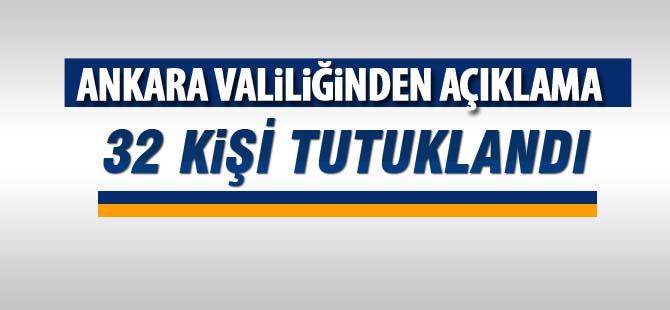 Ankara Valiliğinden açıklama