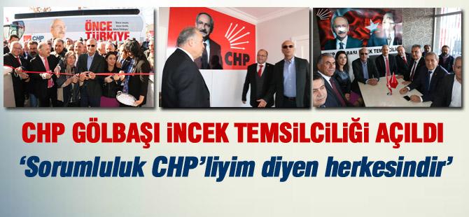CHP Gölbaşı İncek Temsilciliği Açıldı