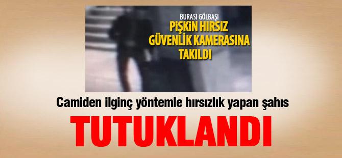 Camiden hırsızlık yapan kişi tutuklandı