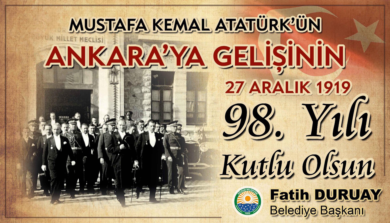 Atatürk'ün Ankara'ya gelişinin 98. Yıl dönümü