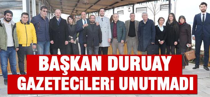 Başkan Duruay gazetecilerle bir araya geldi