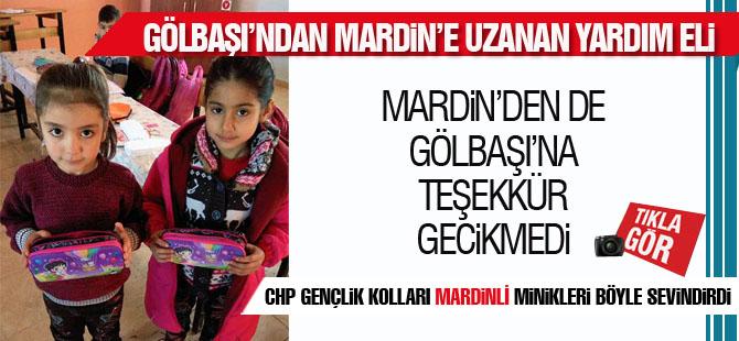 CHP Gölbaşı Örgütüne Mardin'den teşekkür gecikmedi