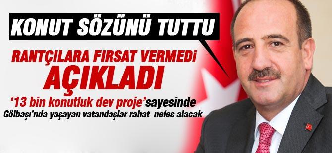 Başkan Duruay konut sözünü tuttu