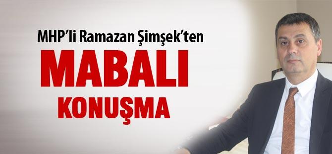 """Ramazan Şimşek; """"mabal var"""""""