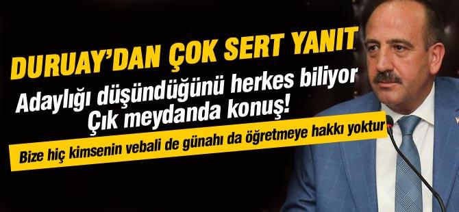 Başkan Duruay'dan Şimşek'e sert yanıt