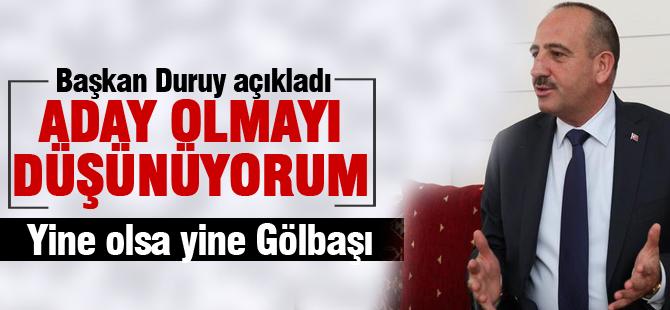 """Başkan Duruay'dan açıklama; """"Düşünüyorum"""""""