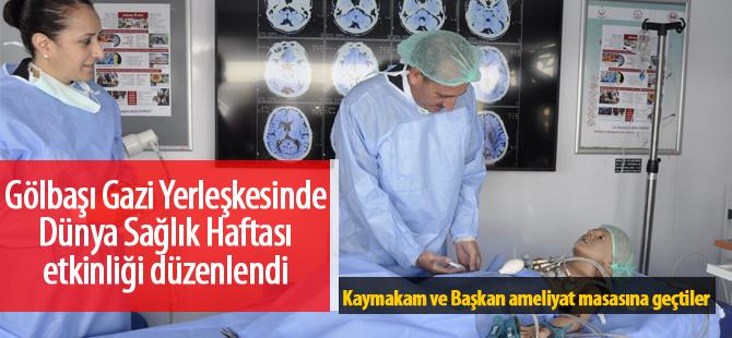 Dünya Sağlık Günü Gölbaşı'nda kutlandı