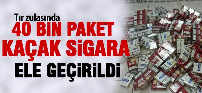 Gölbaşı'nda kaçak sigara operasyonu: 40 bin paket