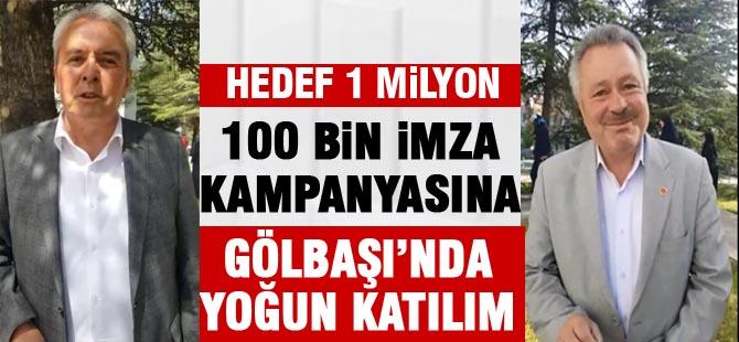 100 bin imza kampanyası başladı