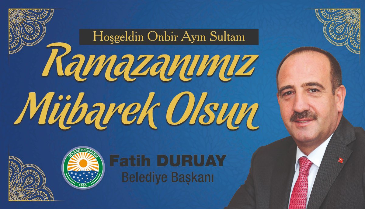 Başkan Fatih Duruay'dan ramazan ayı mesajı