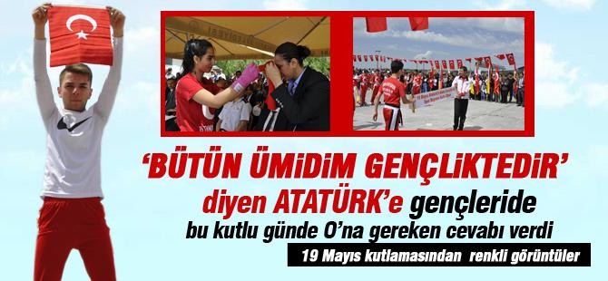 19 Mayıs Atatürk'ü Anma ve Gençlik Spor Bayramı kutlandı