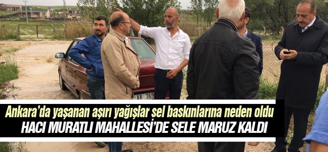 Hacı Muratlı Mahallesi sele teslim oldu