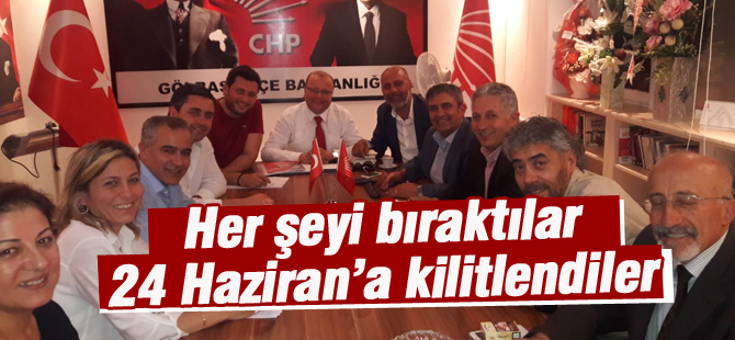 CHP'liler 24 Haziran için kenetlendiler