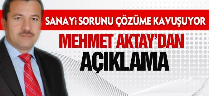 Mehmet Aktay'dan açıklama