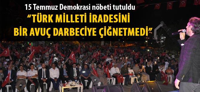 Gölbaşı'nda 15 Temmuz demokrasi nöbeti tutuldu