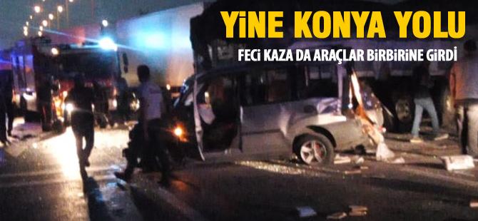 Konya Yolu'nda feci kaza