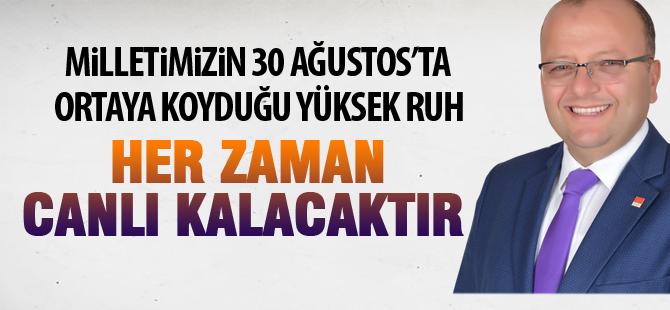CHP İlçe Başkanı Elikesik'ten 30 Ağustos mesajı