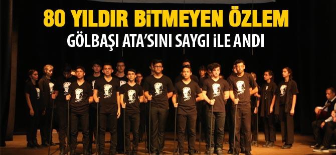 80. yılında Atatürk Gölbaşı'nda anıldı