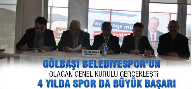 Gölbaşı Belediye Spor Kulübü Olağan genel kurulunu gerçekleştirdi
