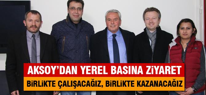 Gölbaşı Belediye Başkan Adayı Aksoy, yerel basını ziyaret etti