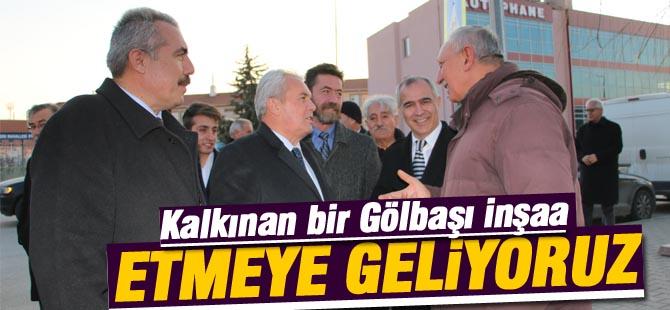 """Aksoy, """"Kalkınan bir Gölbaşı inşaa etmeye geliyoruz"""""""