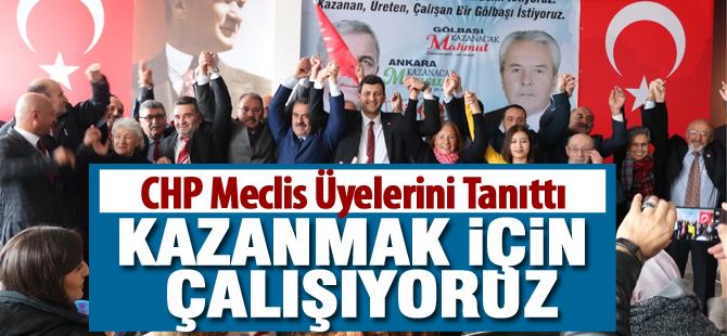 CHP meclis üyesi adaylarını tanıttı