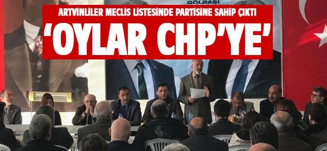 Artvinlilerden CHP'ye destek