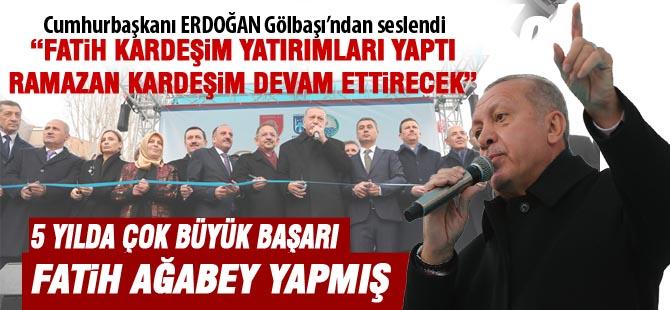 Cumhurbaşkanı Erdoğan 219 eser açılışını gerçekleştirdi